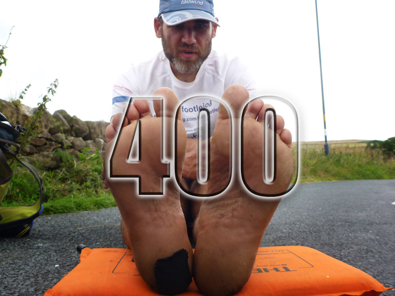 No 400 – LEJOG – Barefoot – Half Way