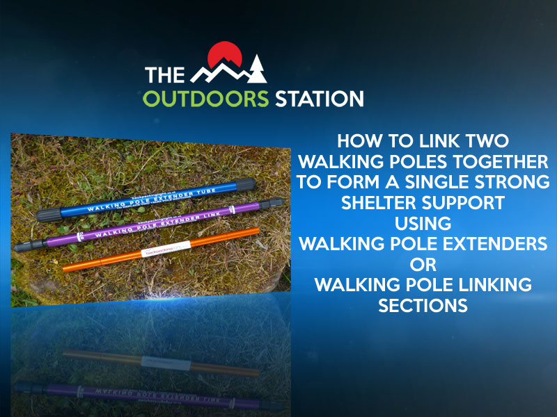 How To Link Walking/Trekking Poles using Extenders/Sections